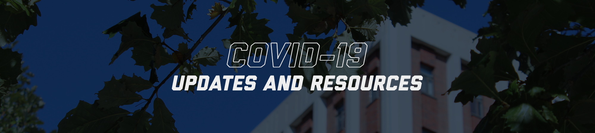 COVID-19 page banner
