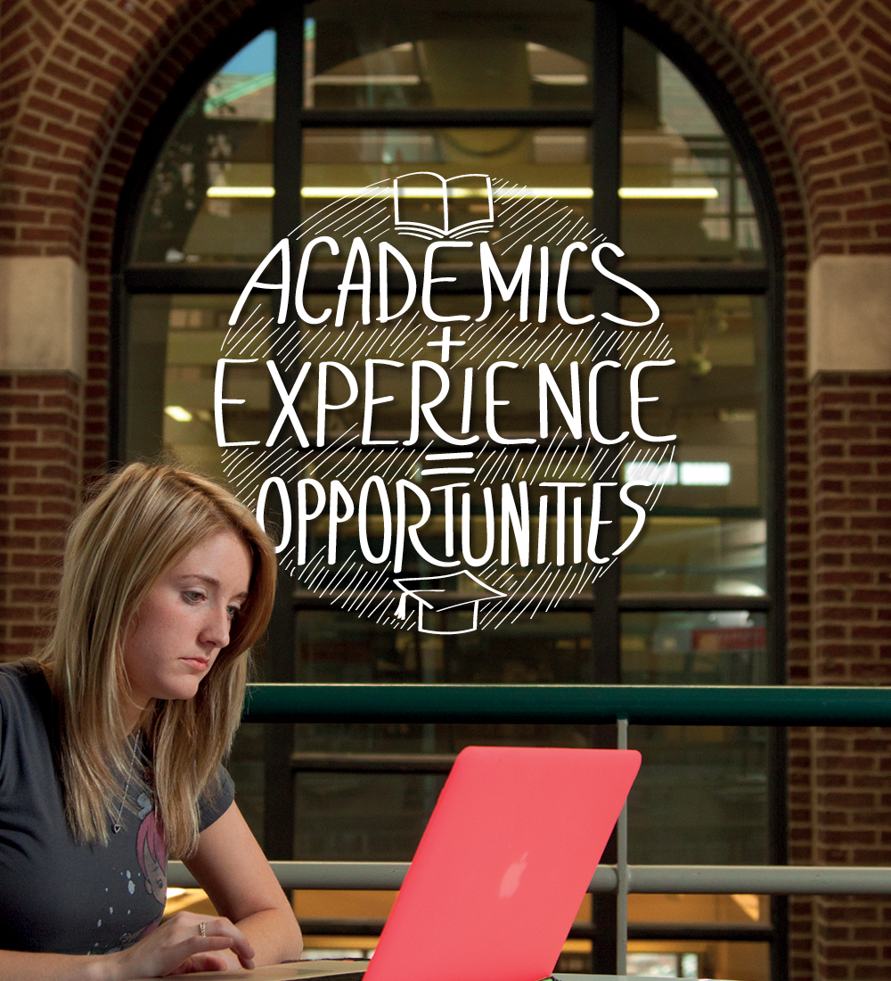 Academics + Experience = Opportunities