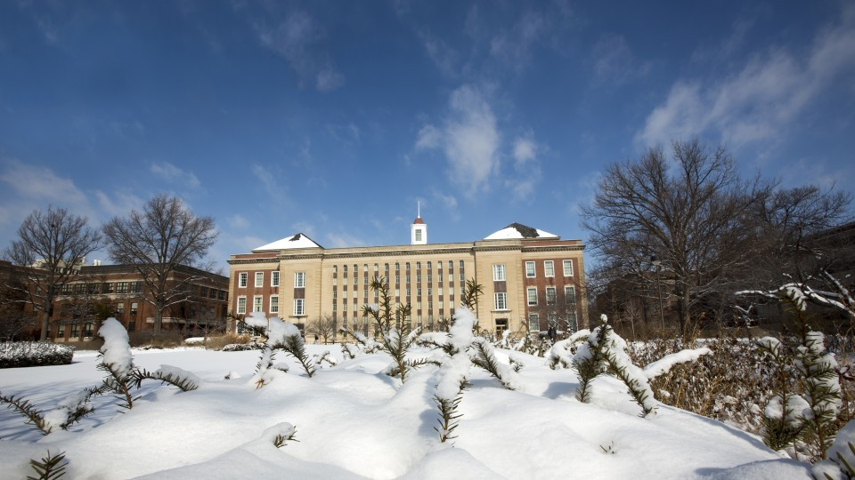 Photo Credit: Snow on campus