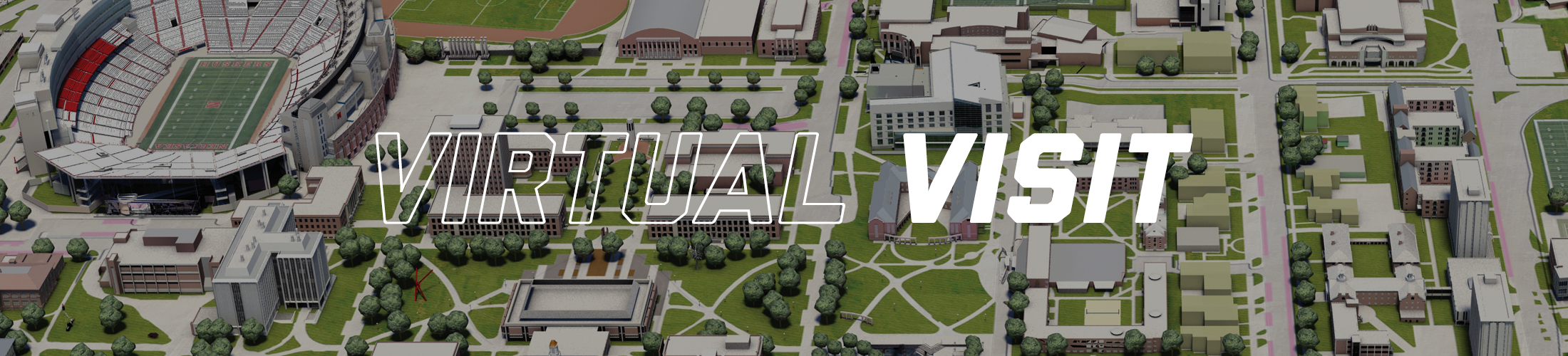 Virtual visit campus map with Oldfather Hall